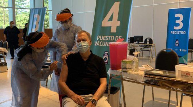 Funcionarios provinciales fueron vacunados por ser personal estratégico