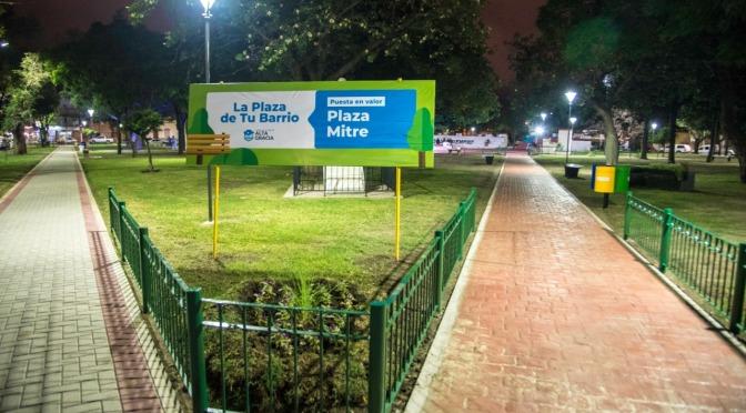 La Plaza Mitre de Alta Gracia ya luce toda renovada