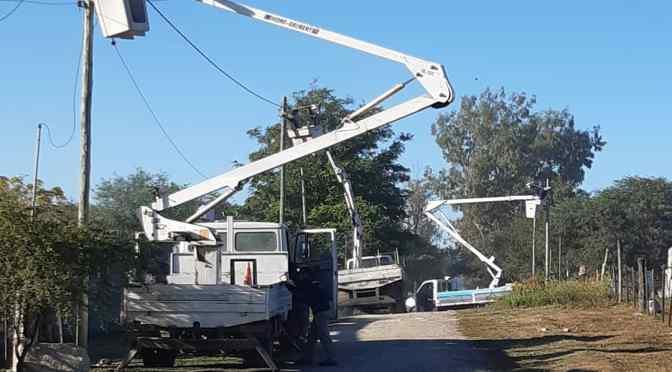 Operativos de reposición de luminarias en Alta Gracia